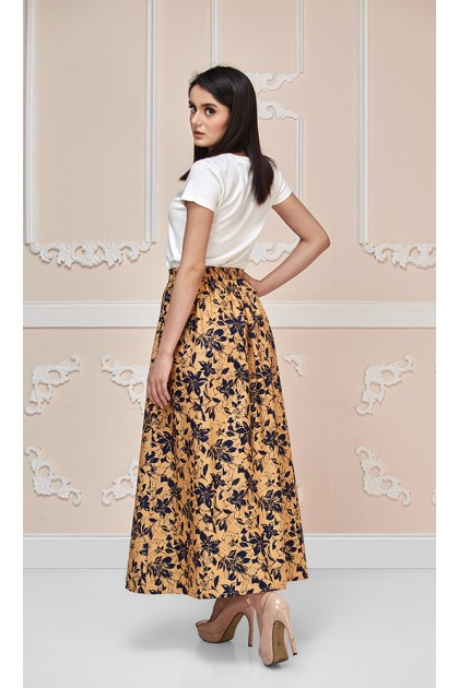 Scarlet Maxi Skirt in Brown and Black