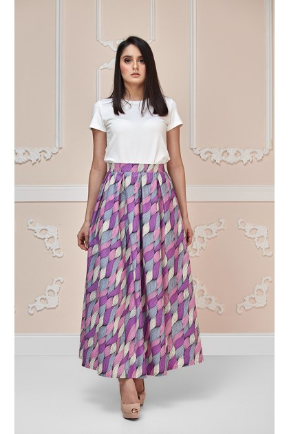 Calla Lily Maxi Skirt in Purple