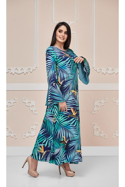 Tropical Paradise Maxi Dress in Green