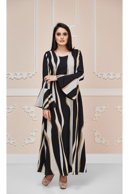 Yarra Maxi Dress in Black and White