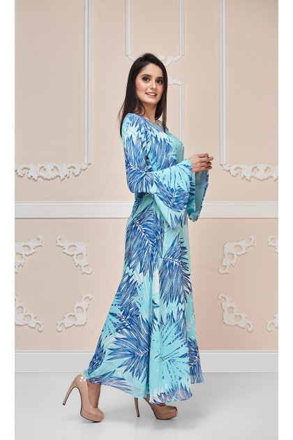 Blue Palms Maxi Dress