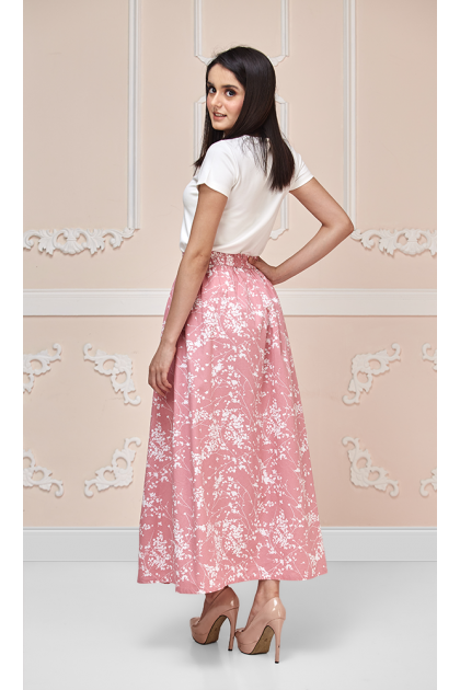 Blossom Maxi Skirt in Pink