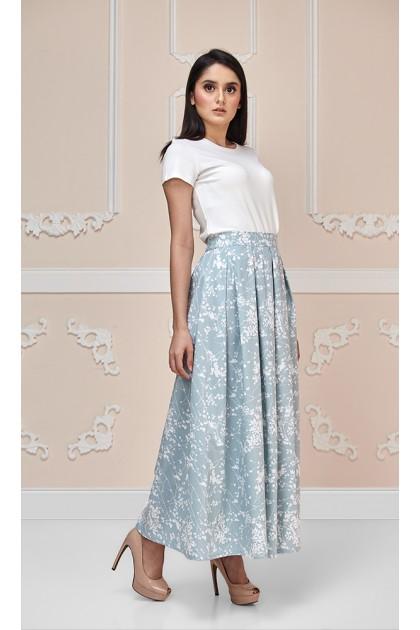 Blossom Maxi Skirt in Grey