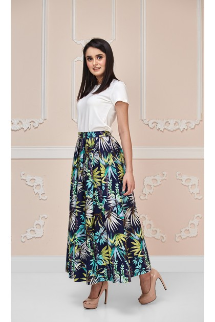 Lily of the Valley Maxi Skirt in Green