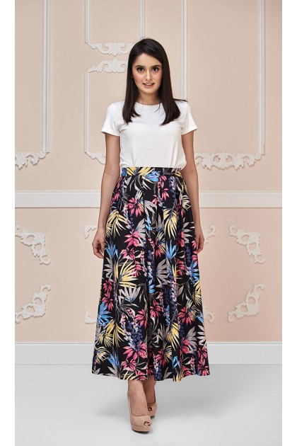 Lily of The Valley Maxi Skirt in Pink