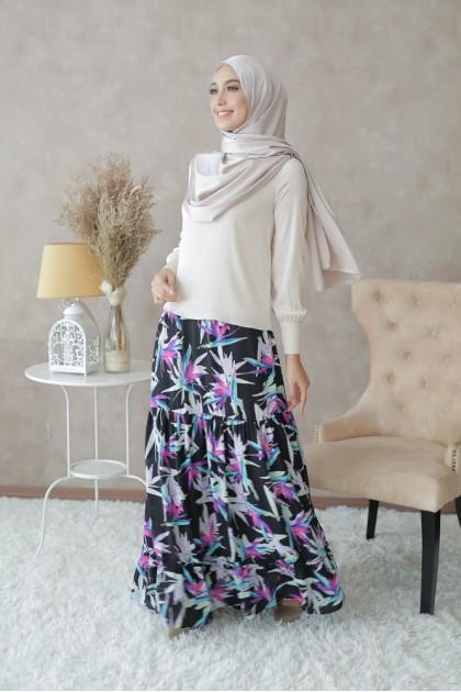 Leyla Maxi Skirt in Black