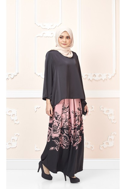 Floria Maxi Skirt in Dusty Pink