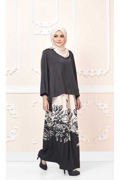 Floria Maxi Skirt in Beige