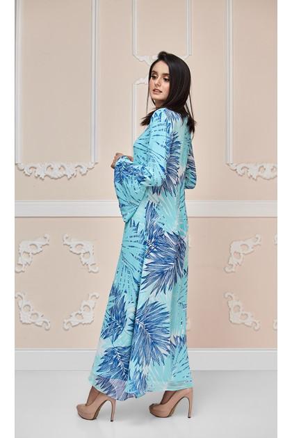 Blue Palms Maxi Dress (As-Is Item/Minor Defect)