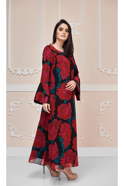 Summer Rose Maxi Dress (As-Is Item/Minor Defect)