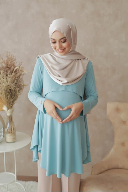 Melissa Top in Light Turquoise