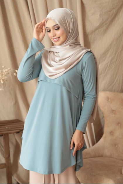Melissa Top in Dusty Turquoise