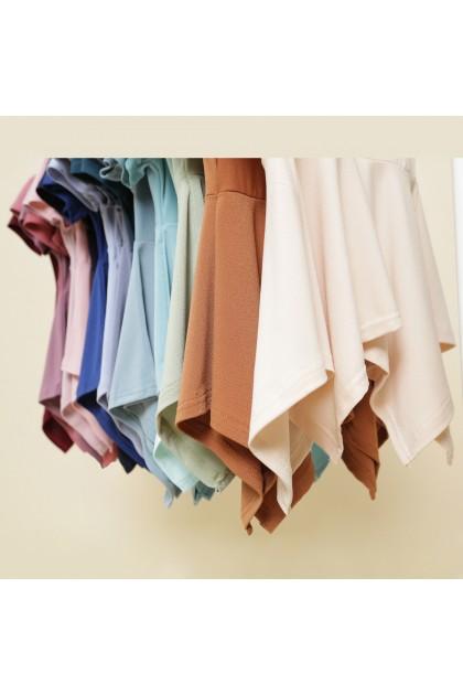 Isabel Handkerchief Top in Light Turquoise
