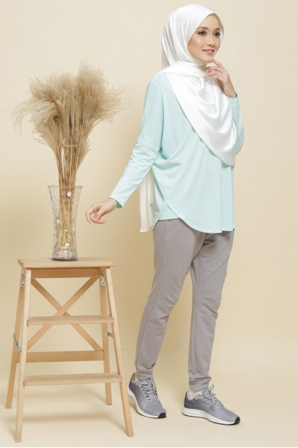 Nicole Batwing Top in Turquoise