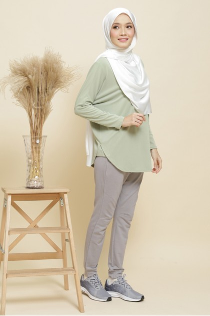 Nicole Batwing Top in Sage