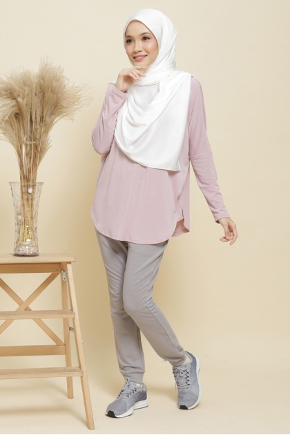 Nicole Batwing Top in Pinkish Lavender